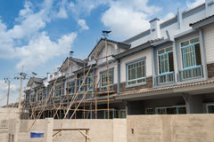 New townhouses under construction. Stock Photo