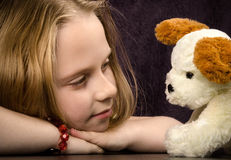 New toy friend Stock Photo