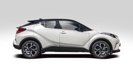New Toyota C-HR SUV. Side view isolated on white Stock Photo