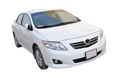 New Toyota Corolla. 2009 model white Toyota Corolla Stock Photo