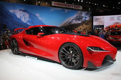 New Toyota FT-1 2014 - 2015. Toyota FT-1 at Chicago car show 2014 Royalty Free Stock Image