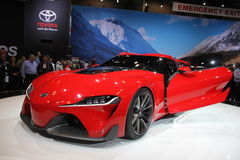 New Toyota FT-1 2014. New supercar Toyota FT-1 2014 at Chicago auto show 2014 Royalty Free Stock Image