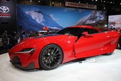 New Toyota FT-1 2014. New supercar Toyota FT-1 2014 at Chicago car show Royalty Free Stock Image