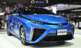The new Toyota Mirai at the 36th Bangkok International Motor Show Royalty Free Stock Photos