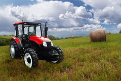 New tractor in the field royalty free stock images