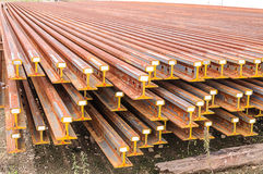 The new  train rails Royalty Free Stock Image