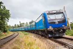 New train in srilanka Stock Image