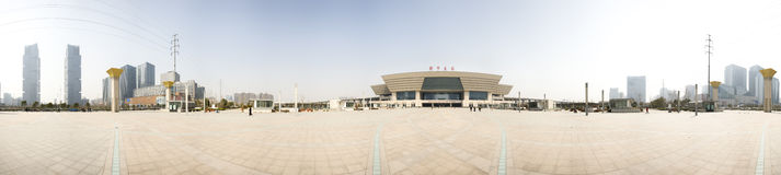 New train station panorama of zhengzhou Royalty Free Stock Image