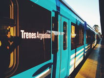 New trains in Buenos Aires Royalty Free Stock Photo