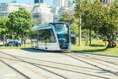 New Tram calls `VLT` in front of Santos Dumont airport, Rio de Janeiro Royalty Free Stock Photo