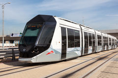 New tram in the city of Dubai Stock Image