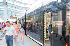 New Tram Royalty Free Stock Images