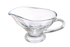 New transparent glass pitcher on white Royalty Free Stock Photos