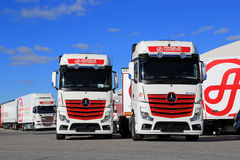 New Transport Trucks against Blue Sky royalty free stock photo