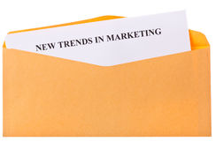 New trends in marketing Stock Image