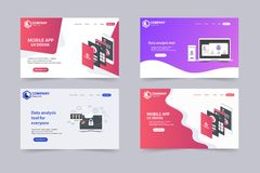 New Trendy Website Landing Pages vector theme template design vector illustration
