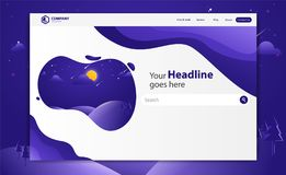 New Trendy Landing Page Website Vector Template Design royalty free illustration