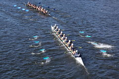 New Trier High Schoo, The Milwaukee Rowing Stock Image
