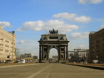 The New Triumphal Arch in Moscow. stock photos