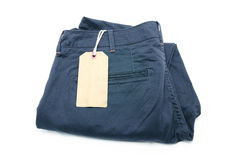 New trouser and tag isolated Stock Image