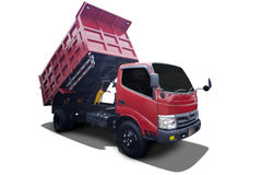 New truck unload demo Stock Photo