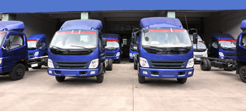new trucks warehouse Stock Images