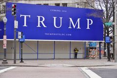 The new Trump hotel in Washington, DC in the Old Post Office building Stock Images