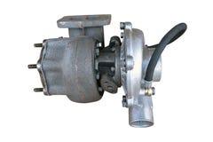 New turbocharged car engine Isolated. On white background royalty free stock photo