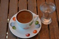 New Turkish Coffee. Presentation occasional coffee today in Turkey Stock Image