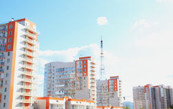 New with TV tower on the waterfront. Krasnoyarsk Stock Photos