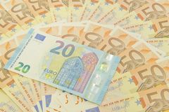 New twenty euro money Royalty Free Stock Photography