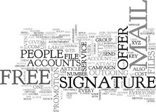A New Twist To The Signature File Idea Word Cloud. A NEW TWIST TO THE SIGNATURE FILE IDEA TEXT WORD CLOUD CONCEPT Royalty Free Stock Image