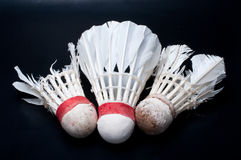 New and  two old shuttlecock Royalty Free Stock Photo