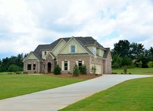 New two story brick home in Georgia, USA Royalty Free Stock Images
