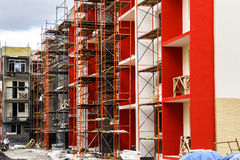 New typical economy apartments building Royalty Free Stock Photography