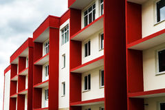 New typical economy apartments building Royalty Free Stock Photo