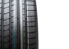 New tyre isolated on white background Stock Image