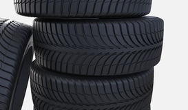 New tyres. Tire high resolution on a white background Royalty Free Stock Image