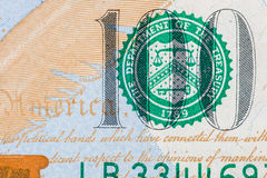 New U.S. 100 dollar bill Stock Photography