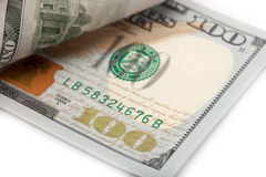 The new U.S. 100 dollar bill Royalty Free Stock Photos