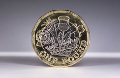 New 2017 UK One Pound Coin Royalty Free Stock Photos
