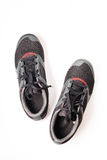 New unbranded running shoe color black and red Royalty Free Stock Photography