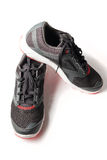 New unbranded running shoe color black and red Stock Photography