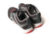 New unbranded running shoe color black and red Royalty Free Stock Images