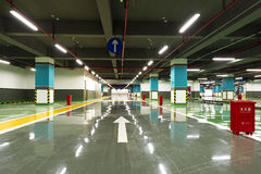 The new underground parking lot Royalty Free Stock Photo