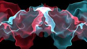 Digital turbulent paint splash smoke cloud soft abstract background blue red - new unique quality colorful joyful motion. New unique quality soft colorful joyful stock footage