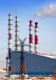New unit of combined heat and power plant Stock Image