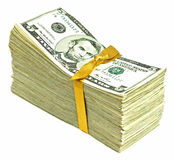 New United States Currency - Fives Royalty Free Stock Image