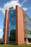 New University Building. New building on a university campus stock image