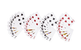 New unpacked playing cards. Royalty Free Stock Images